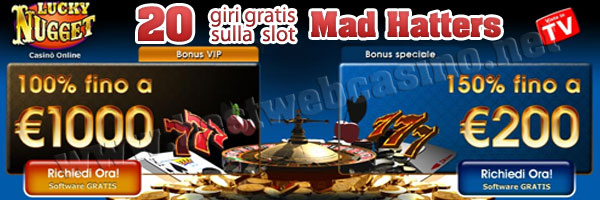 lucky nugget casino giri gratis slot machine online