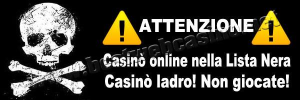 lista nera casinò online Spin Palace Casino