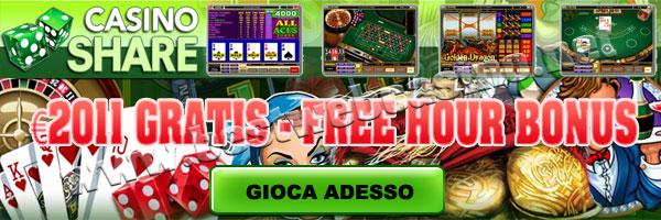 bonus free hour casino share