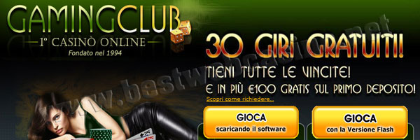 gaming club casino giri gratis slot machine online