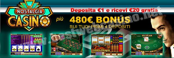 deposito minimo 1 euro casino