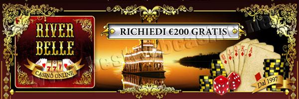casinò online con deposito minimo 5 euro river belle casino