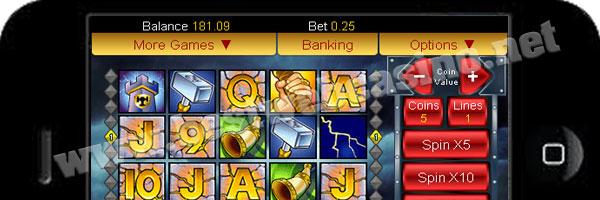 slot machine tunderstruck per cellulare