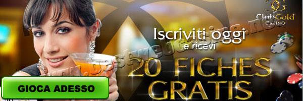 Club Gold Casino Bonus Senza Deposito