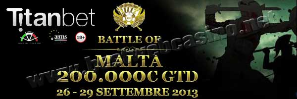 torneo poker battle of malta