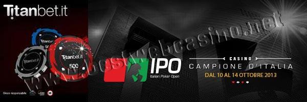 italian poker open 2013