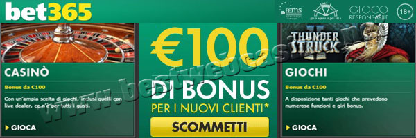 recensione bet365 casino legale aams
